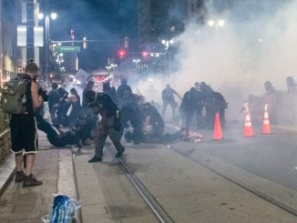 Detroit police attack demonstrators on Aug. 22, 2020