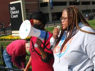 Detroit anti-eviction demonstration featured militant speeches from housing activists on Oct. 9, 2020