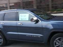 Detroit demonstration against federal executions car caravan outside McNamara Building