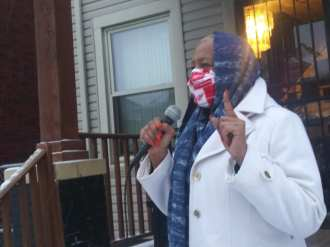Detroit demonstration defends State Rep. Cynthia A. Johnson