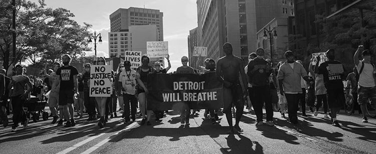 Detroit Will Breathe marching through Detroit actionnetwork org