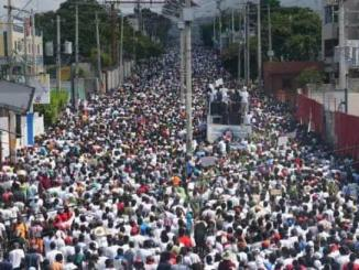 Feb. 14, 2021 over 100,000 denouce Jovenel Moise dictatorship in Port-au-Prince