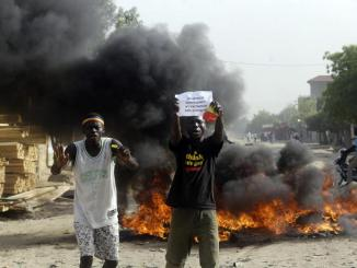 Chad demonstration against the transitional military council