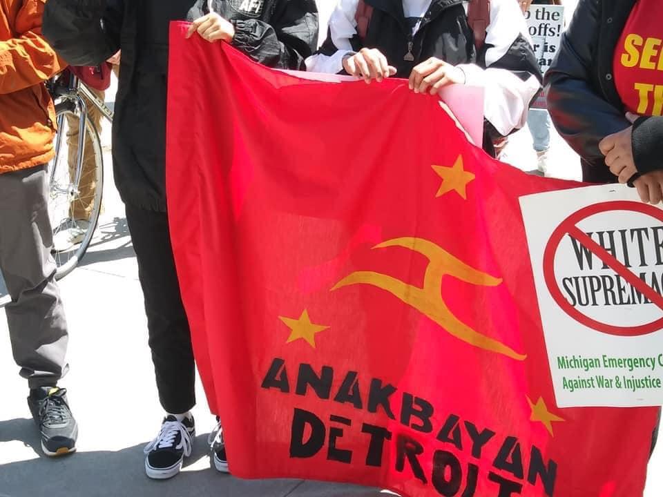 Detroit May Day 2021 Anakbayan banner
