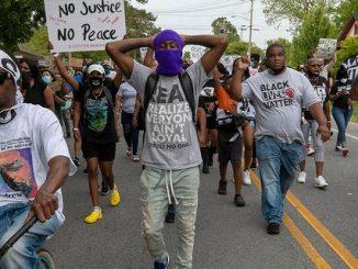 Elizabeth City protests demanding justice for Andrew Brown, Jr.