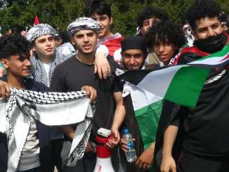 Dearborn demonstration where youth took the lead against US aid to Israel