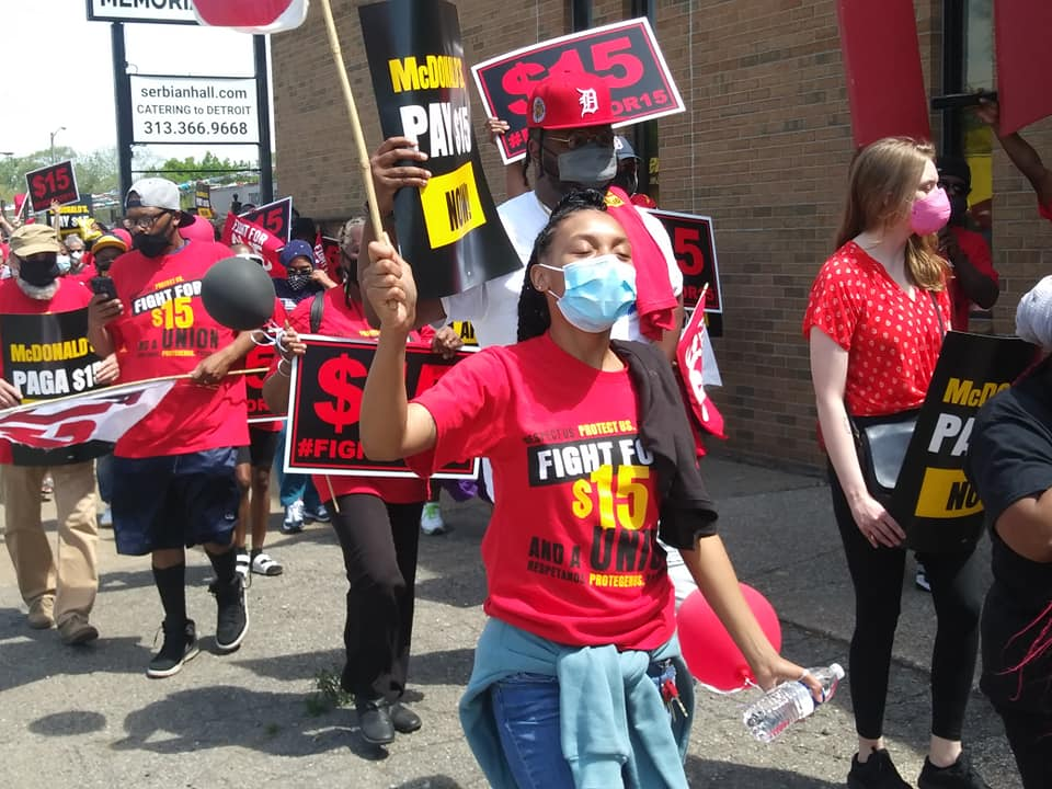 Fight for $15 march to McDonald's on May 19