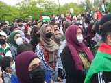 Free Palestine demonstration was organized by a broad united front in Dearborn and the entire Detroit area