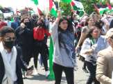Free Palestine demonstration youth taking the lead in shutting down the streets of Dearborn on May 16, 2021