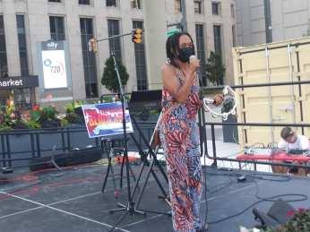 Detroit Cuba Solidarity Rally Chair Monique, July 26, 2021