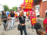 Detroit Fight for $15 and a Union holds picket line at McDonald's on July 20, 2021