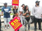 Detroit Fight for $15 women workers speak out against low wages, July 20, 2021