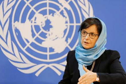 Afghanistan UN Envoy Debra Lyons