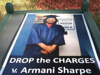 Armani Sharpe charges dropped. | Photo: Abayomi Azikiwe, Pan African News Wire