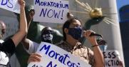 Moratorium NOW! Coalition press conference on federal rental relief on Sept. 1, 2021