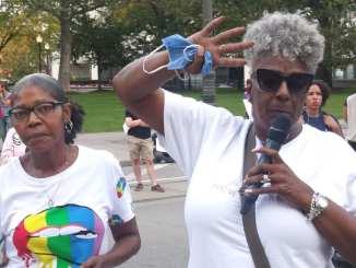Detroit demonstration blocks Woodward Avenue on Oct. 8, 2021