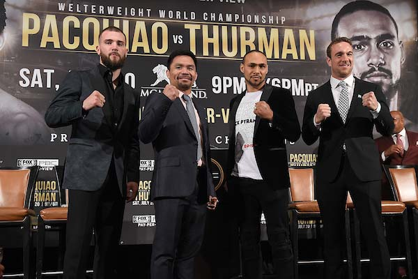 Manny Pacquiao sent 'crucifixion' threat by Keith Thurman