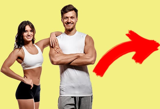 Image showing fit couple happy to be doing Fitness Madison classes