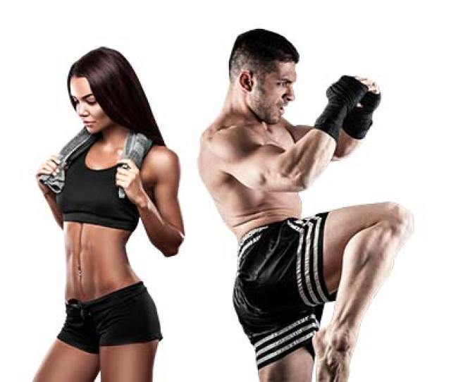 Photo Of Fit Muay Thai Madison Class Couple Showing Their Abs