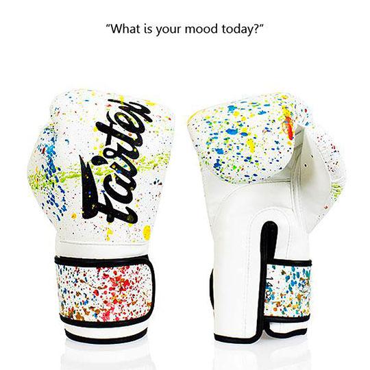 BGV14PT Fairtex The Painter White-Black Unique Boxing Gloves