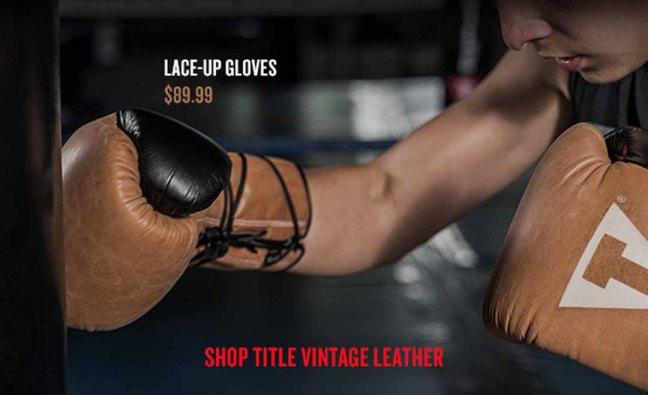 Title Vintage Leather Lace Bag Gloves