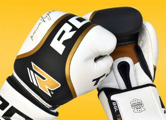 RDX Gold Power Fighter Leather Sparring Boxing Gloves Review