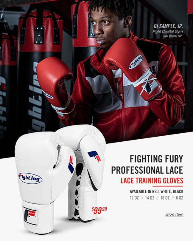 Fighting Fury Professional Lace Training Gloves