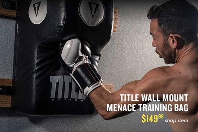 TITLE Boxing Wall Mount Menace Training Bag