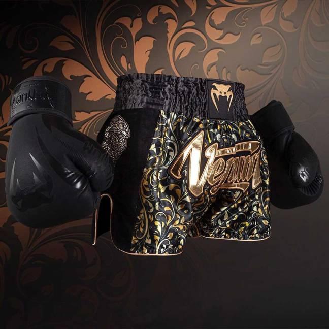 Venum Absolute Muay Thai Shorts - Black/Gold - Exclusive