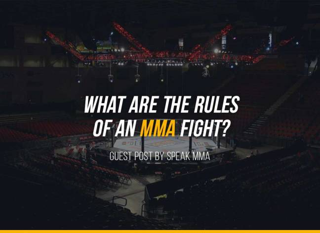 What are the rules of an MMA fight?