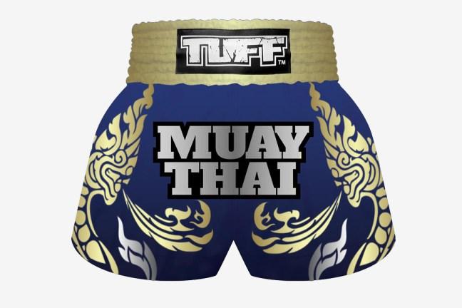 Mock up of the TUFF Custom Muay Thai Shorts
