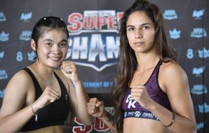 Muay Thai Super Champ Weigh In Results - Mariana Scombatti