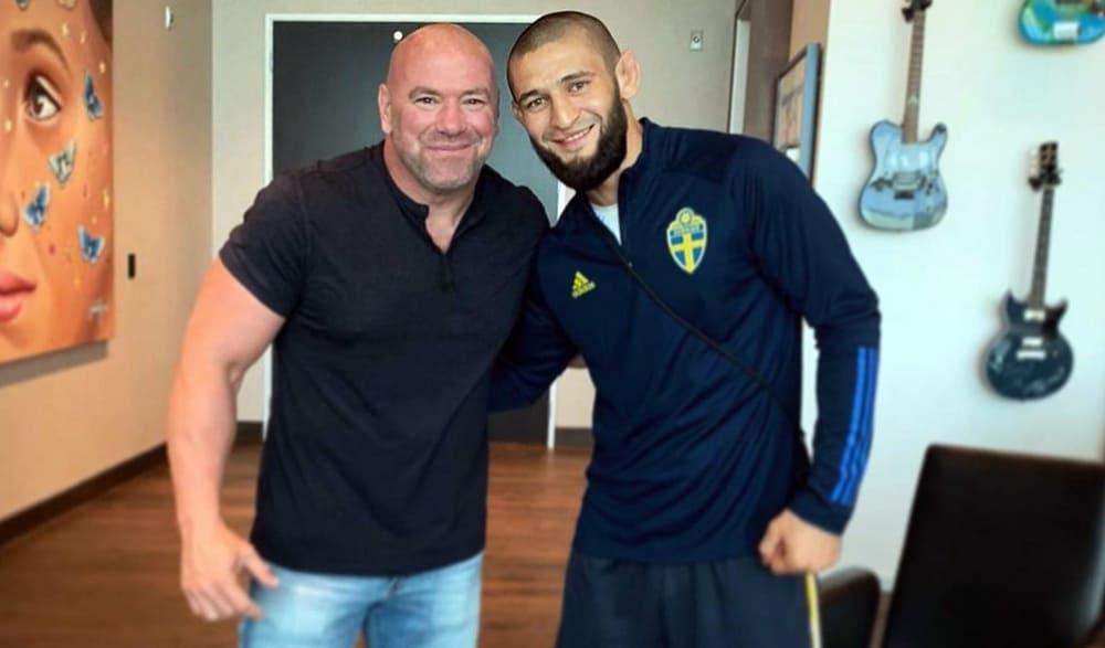 UFC head Dana White spoke about plans for Khamzat Chimaev