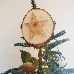 Ladies Art Night, Wee Warhols, Austin TX, tree topper, star, string art, Christmas crafts