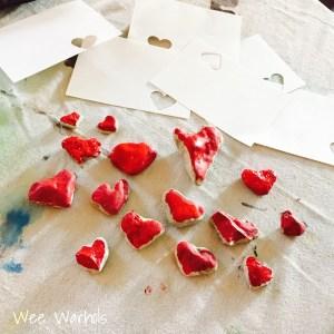 heart rocks, you rock, Valentines, Wee Warhols, Austin TX, handmade