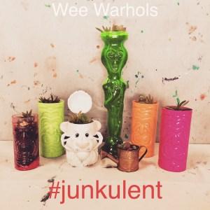 junkulent, succulents, Wee Warhols, Austin TX