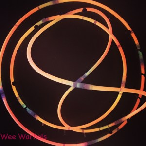 Glow Bracelets used to teach about the art of Neon