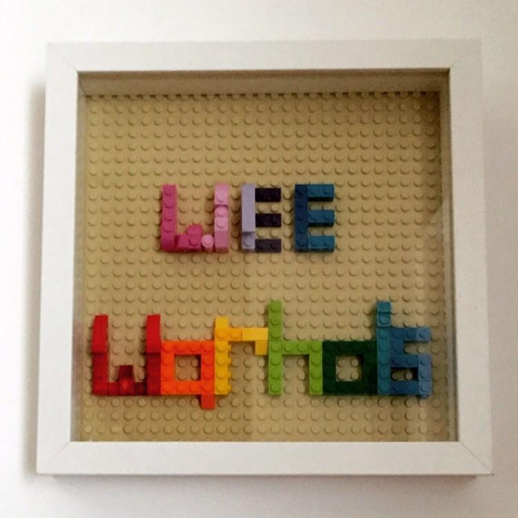 Wee Warhols, Lego, shadow box, frame, Ikea, Austin, TX