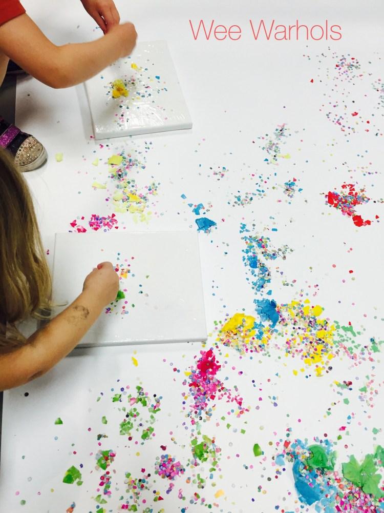 cascarones, confetti eggs, action art, process art, Wee Warhols, Austin TX