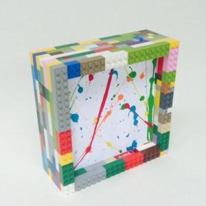 Wee Warhols, Lego frame, art display, austin tx