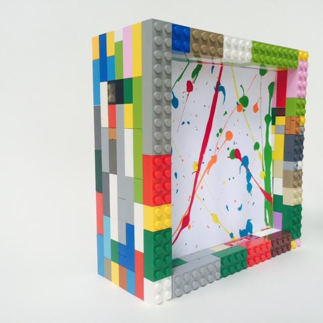Wee Warhols, lego frame, art display, art frame, home decor, austin, tx