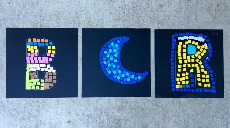 Mosaic art, Wee Warhols, kid's art, mosaic, teaching kids mosaic, austin