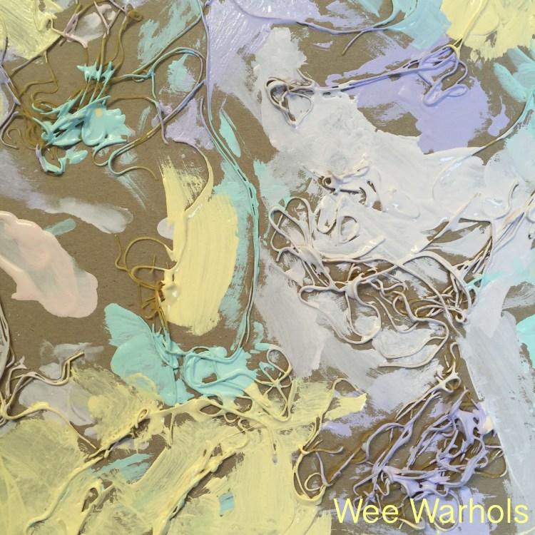 pasta, textured, art, process art, Wee Warhols, Austin, early education