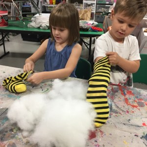 bumble bee, lovie, Wee Warhols, Austin, Art Class