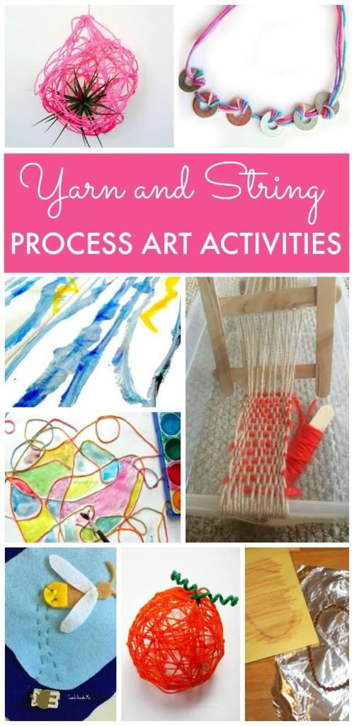 yarn, yarn crafts, process art, Wee Warhols, Austin