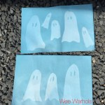 ghost, halloween, sun print, cyanotype, kid's art, Wee Warhols, Austin