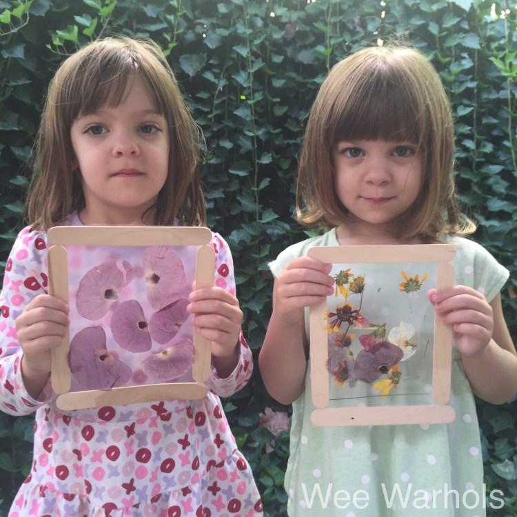pressed flowers, dried flowers, kids art, Wee Warhols, Austin