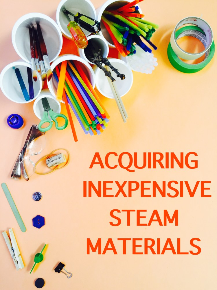 STEAM, STEM, STEAM on a budget, inexpensive STEAM supplies, Wee Warhols, Austin
