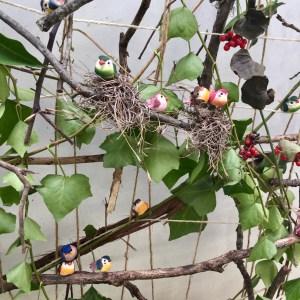 birds, weaving, loom, nature, Wee Warhols, Austin