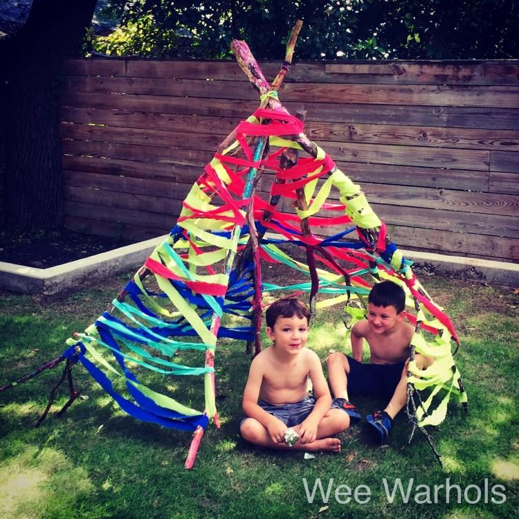 tipi, tee pee, tepee, Wee Warhols, Austin, outdoor play